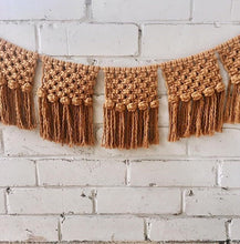 Load image into Gallery viewer, Macrame Bunting Mustard