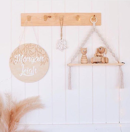 Macrame Timber Hanging Shelf | Ever So Sweet Display