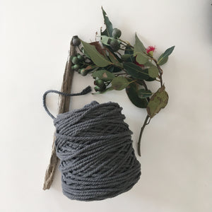 Dark Grey Cotton Rope