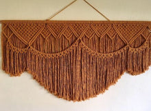 Load image into Gallery viewer, Rust Cotton Wall Macrame Hanging