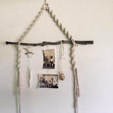 Load image into Gallery viewer, Macrame hanging display