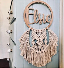 Load image into Gallery viewer, Macrame name plaque - Elsie design