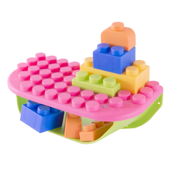 UNiPLAY Soft Building Blocks Storage Shelf Pink (#UB031103)(8 sets a ctn)