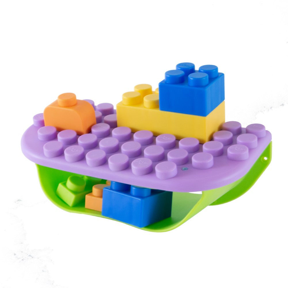 UNiPLAY Soft Building Blocks Storage Shelf Purple (#UB031101)