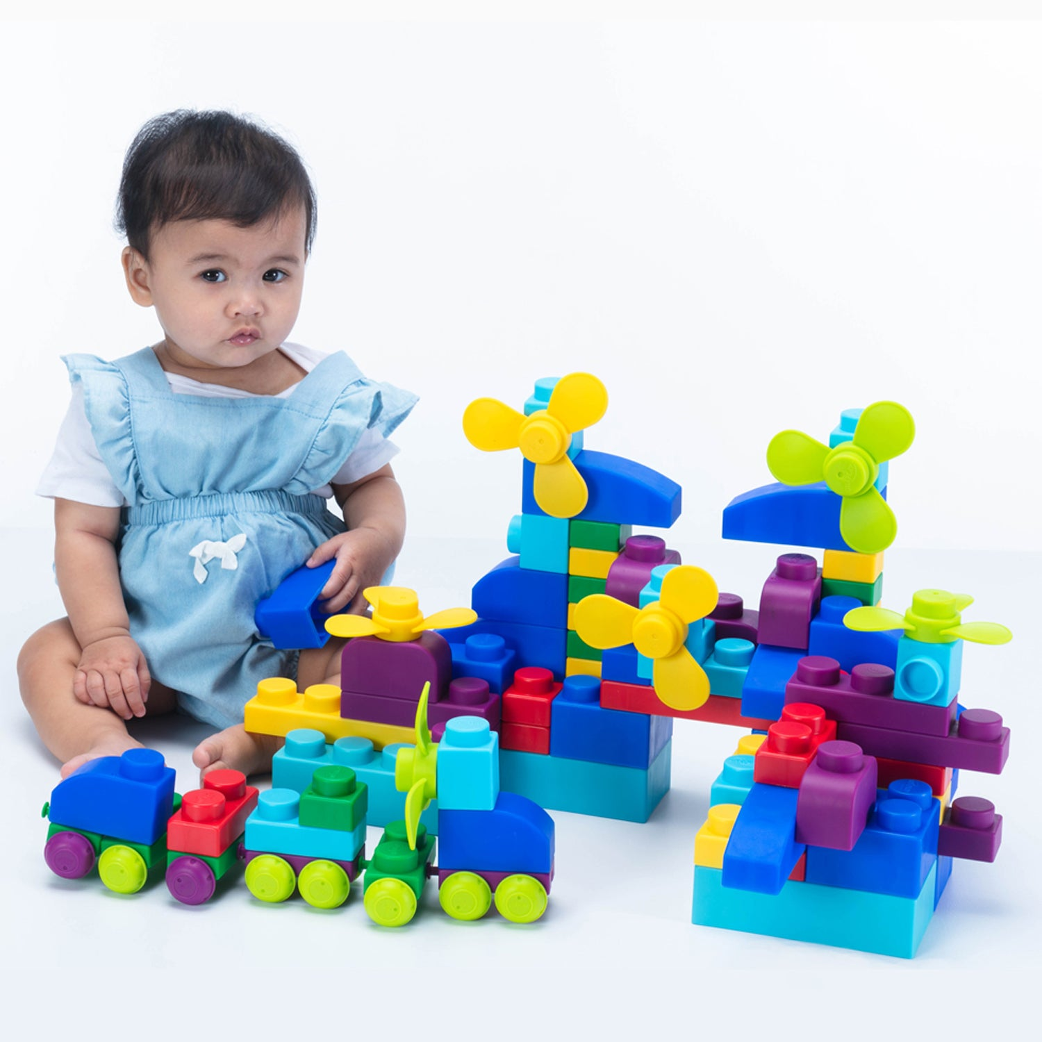 UNiPLAY Soft Building Blocks Plus Series 42pcs Primary Color (#UN40421)(12 sets a ctn)