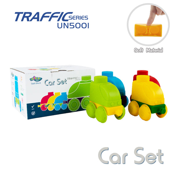UNiPLAY Soft Building Blocks Traffic Series Car Set (#UN5001)