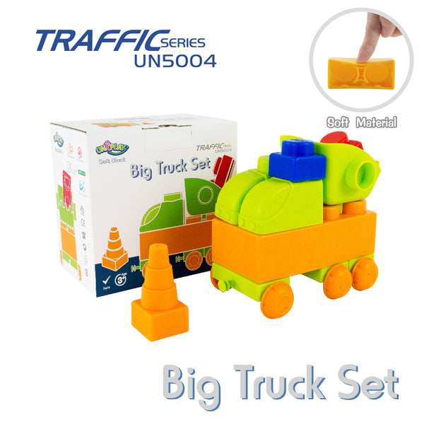 UNiPLAY Soft Building Blocks Traffic Series Big Truck Set (#UN5004)
