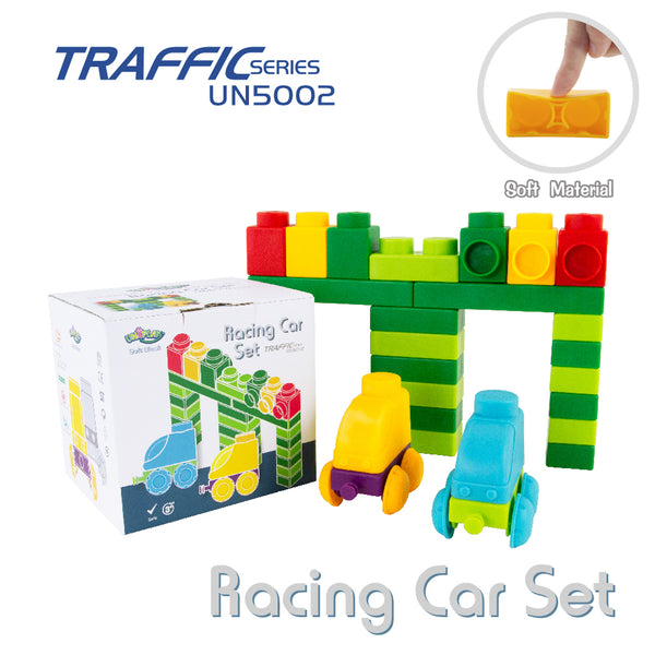 UNiPLAY Soft Building Blocks Traffic Series Racing Car Set (#UN5002)