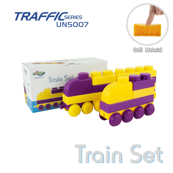 UNiPLAY Soft Building Blocks Traffic Series Train Set (#UN5007)