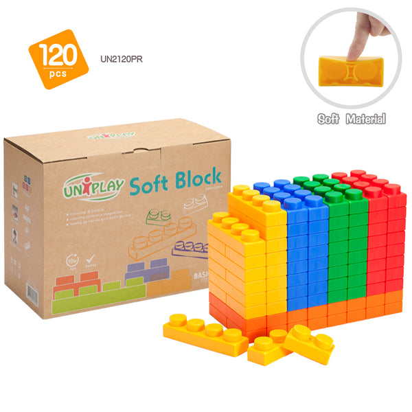 UNiPLAY Soft Building Blocks Basic Series 120pcs (#UN2120PR)