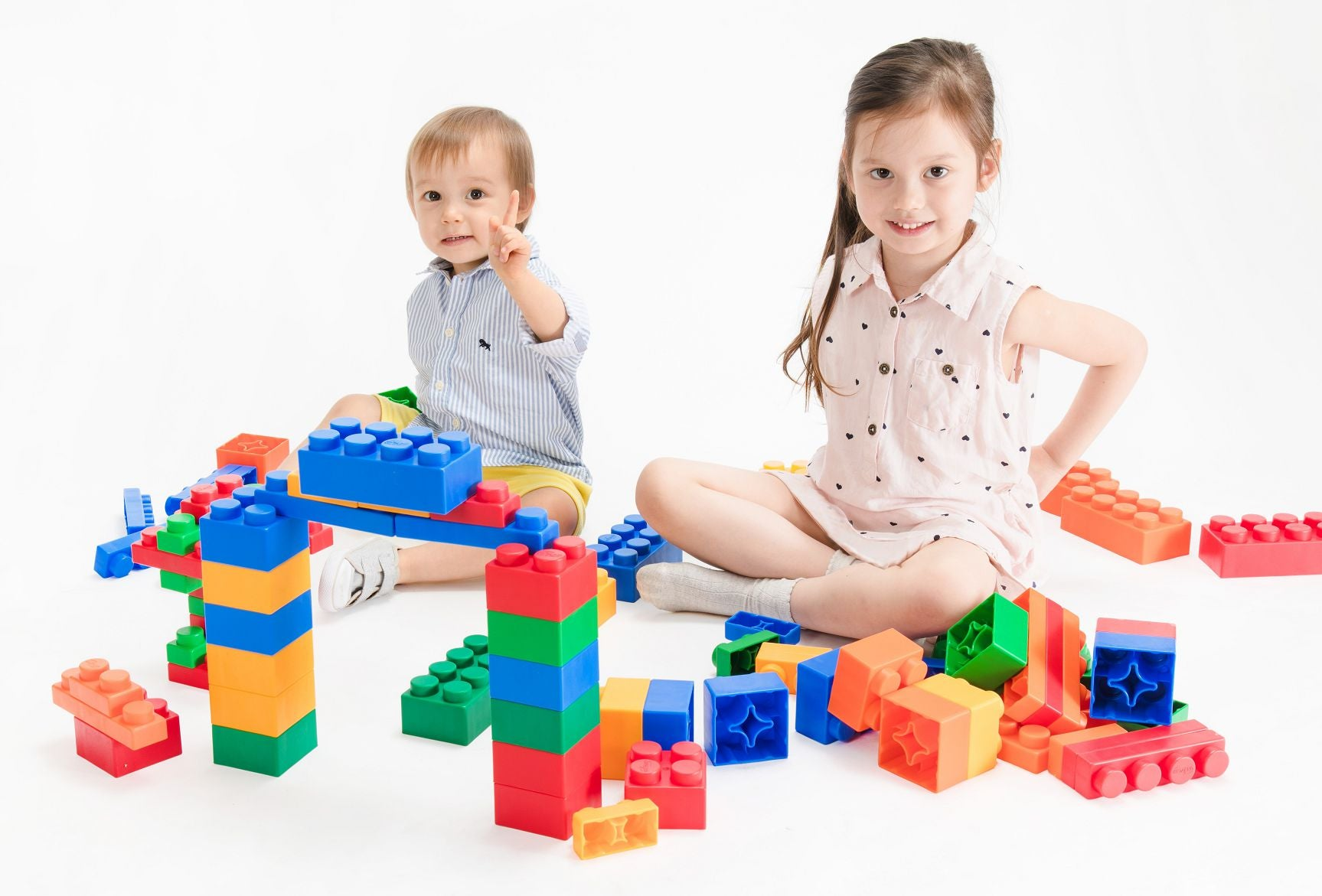 UNiPLAY Soft Building Blocks Mix Series 24pcs (#UN3024PR)(16 sets a ctn)