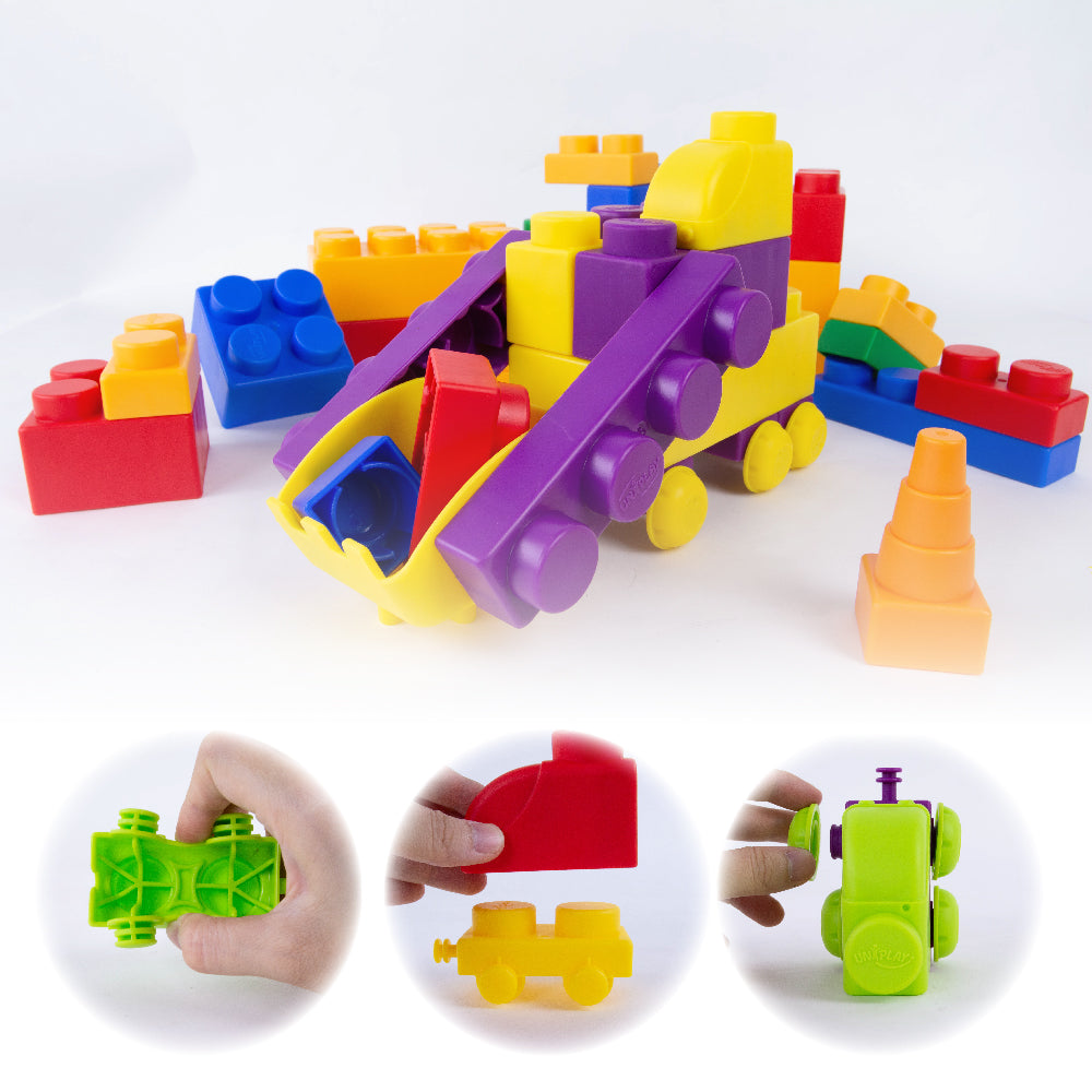 UNiPLAY Soft Building Blocks Traffic Series Shovel Car Set (#UN5006)