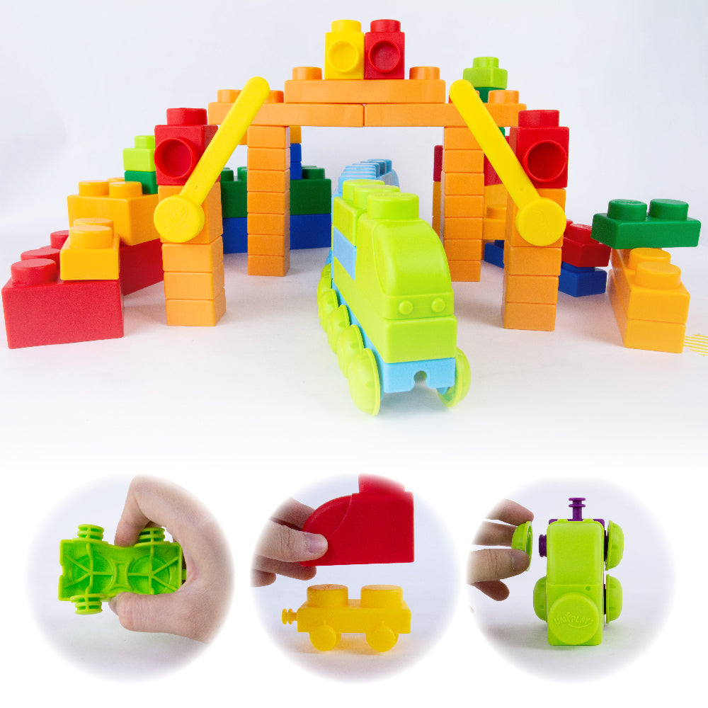 UNiPLAY Soft Building Blocks Traffic Series Train Set Upgrade (#UN5008)