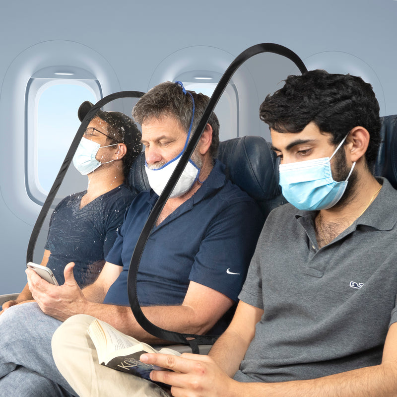 Airplane sneeze guard in the news