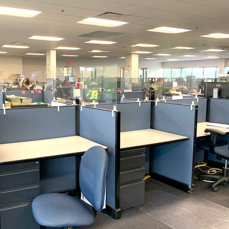STAUBER Best Cubicle Sneeze Guard - Clear Acrylic Plexiglass Partition Extension. Best temporary solution to divide work stations.