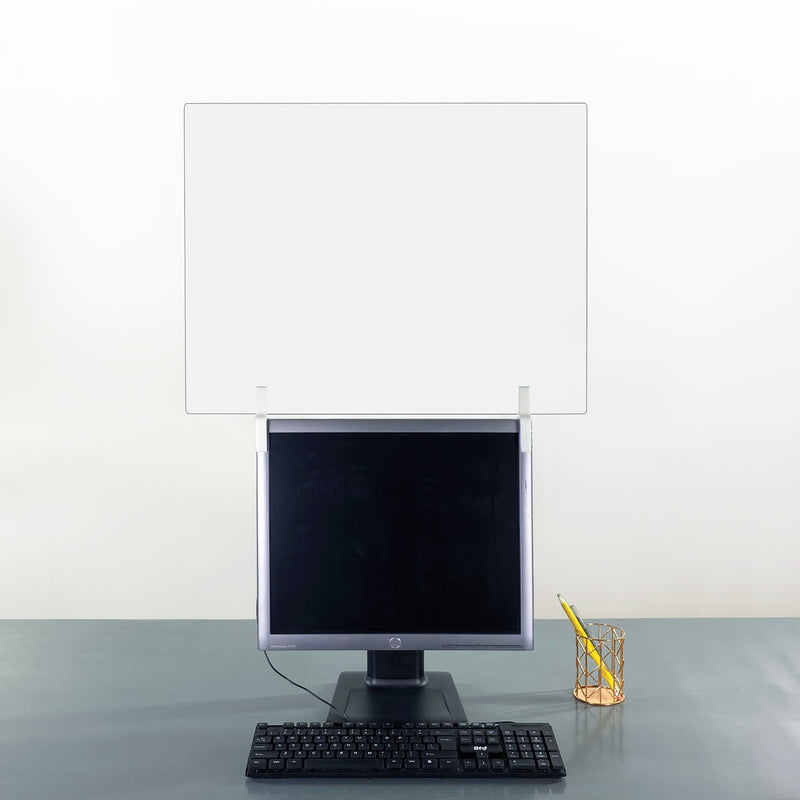 Computer Monitor Sneeze Guard Extender