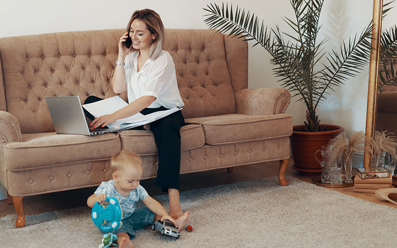 productivity tips for parents and busy mothers working from to home