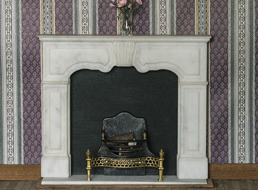 Regency dollhouse fireplace made from real Carrara marble