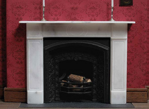Victorian Standard dollhouse fireplace made from real marble