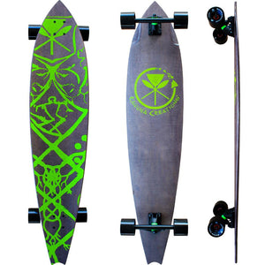 Haka long board for Street SUP, land paddling, New Zealand