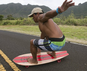 Shaka long board for Street SUP, land paddling, New Zealand