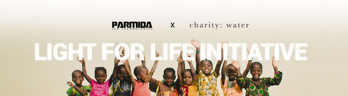 Parmida LED partnership with Charity Water