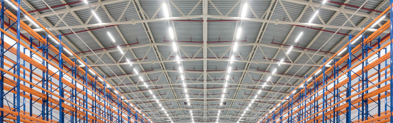 Shop Light, Warehouse Light, Strip Light, 4FT Strip Light, 8 FT Strip Light, Commercial Indoor Lighting, Commercial Strip Light, T8 Tube Strip Light, LED Strip Light.