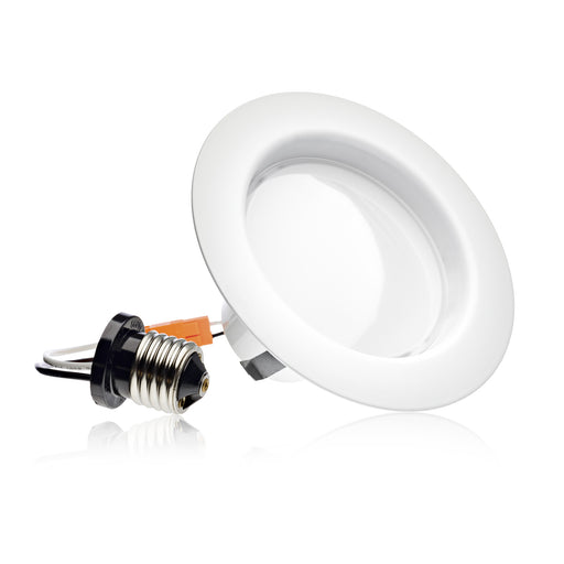 "4"" LED Smooth Downlight - Recessed Light - Easy Installation - 10.5W"