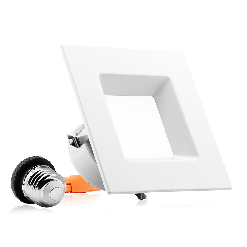 "4"" LED Square Downlight - Recessed Light - 10W"