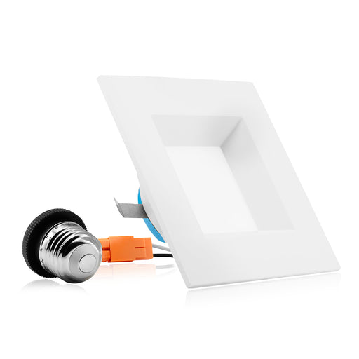 "4"" LED Square Downlight - Recessed Light - 9W"