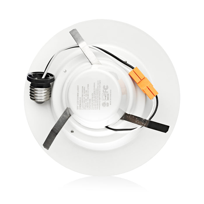 "5/6"" LED Smooth Downlight - Recessed Light - 15W - Easy Installation"