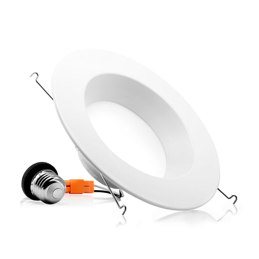 "5/6"" LED Smooth Downlight - 15W - Spring Installation"
