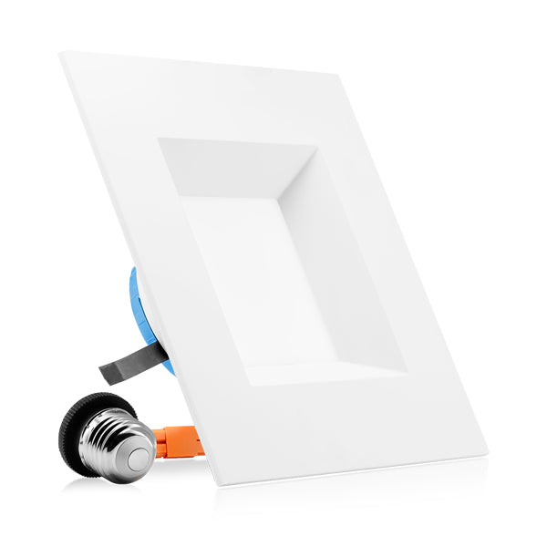 "6"" LED Square Downlight - Recessed Light - 12W"