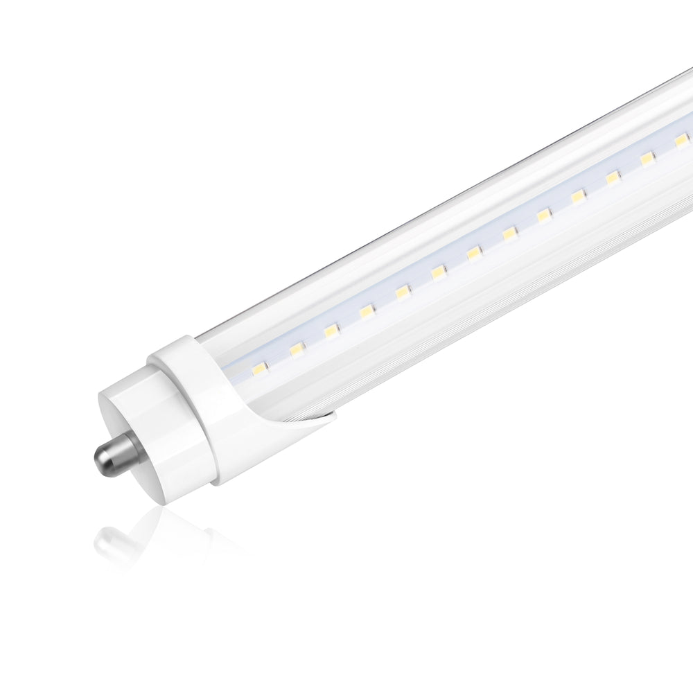 8FT LED T8 Tube - Single Pin - Ballast Bypass - 48W