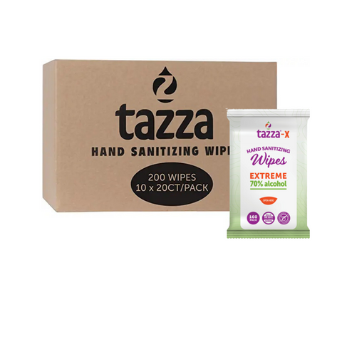 Tazza 70% Alcohol Hand Sanitizer Wipes - 20ct Bag - 10 Bags - 200 Total Count
