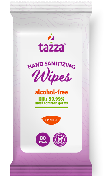 TAZZA® Alcohol-Free Hand Sanitizing/ Surface Cleaning Wipes (In Resealable Bags) 80Ct/Bag, 30 Bags/Cs, 2400 total wipes
