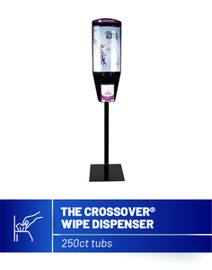 The Crossover Sanitizing Wipe Dispenser (With Base & Pole Set)