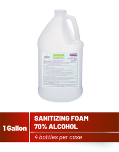 1 Gallon 70% Alcohol-Based Hand Sanitizing Foam with Pump - 4 bottles and 4 pumps per case