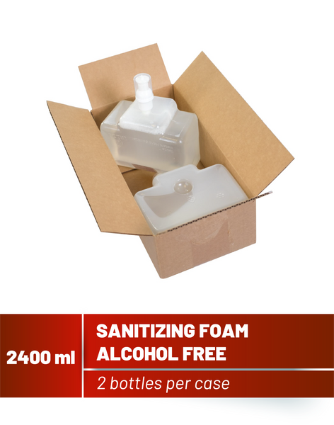 2400mL Alcohol-Free Hand Sanitizing Foam- 2 bottles per case