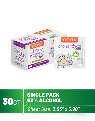 Phone Wipes -30Ct per Box, 72 Boxes per Case