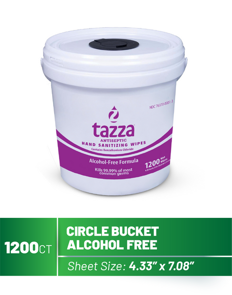 1200ct Bucket Alcohol Free Hand Sanitizing Wipes - 4 buckets per case