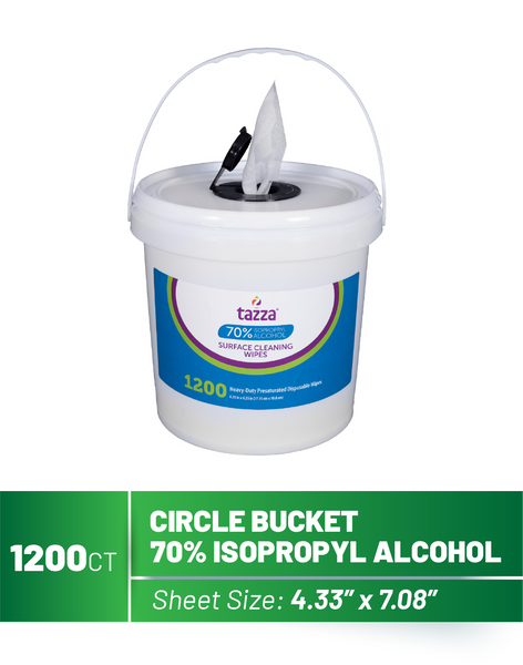 1200ct Bucket 70% Isopropyl Alcohol (IPA) Based Hand Sanitizing Wipes - 4 buckets per case