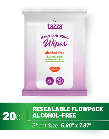 20ct Alcohol-Free Hand Sanitizing Wipes - 64 Packs per Case
