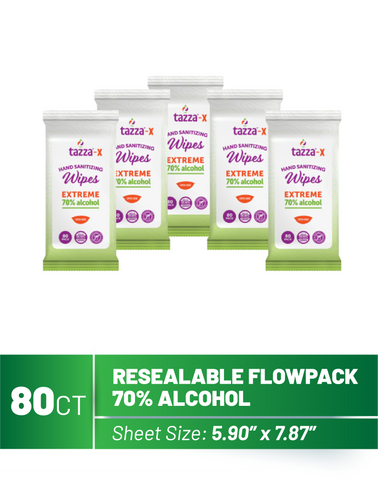 80ct Alcohol Hand Sanitizer Wipes - 5 Packs per Case