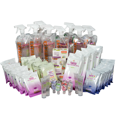 Our bestselling gel and wipe sanitizer pack Wellness Bundle now available - at a massive discount for a VERY limited time!