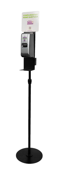 Contactless Dispenser with Circular Base & Pole Kit (Black)