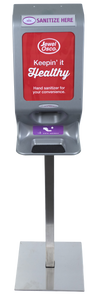 Terraboost Compact® Sanitizer Dispenser (With Base & Pole Set)