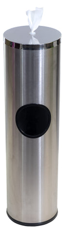 Terraboost Flex Cylinder® Stainless Steel Wipe Dispenser