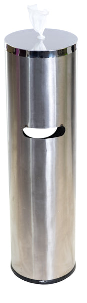 Terraboost Flex Cylinder Stainless Steel Wipe Dispenser