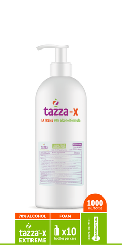 Tazza® 70% Alcohol-Based Hand Sanitizing Foam (32 Oz. bottles, 10-bottles per case)